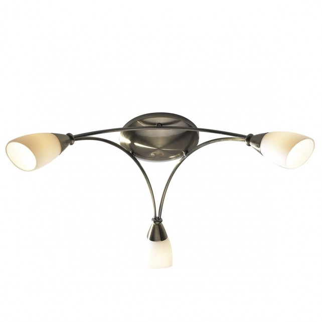 Bureau Ceiling Light - 3 Light Antique Brass