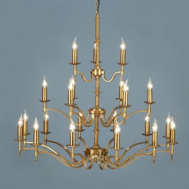 Interiors1900 Stanford Brass 21-Light Chandelier