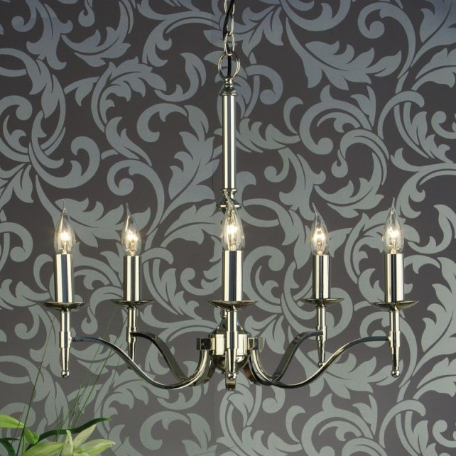 Interiors1900 Stanford Nickel 5-Light Chandelier