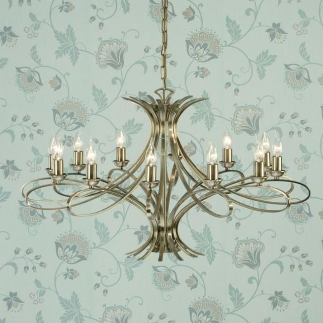 Interiors1900 Penn 12-Light Chandelier, Brushed Brass