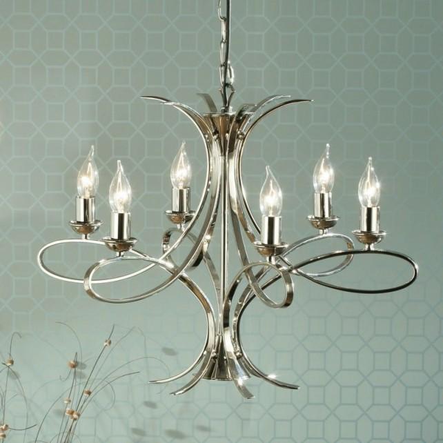 Interiors1900 Penn Chandelier 6-Light Nickel