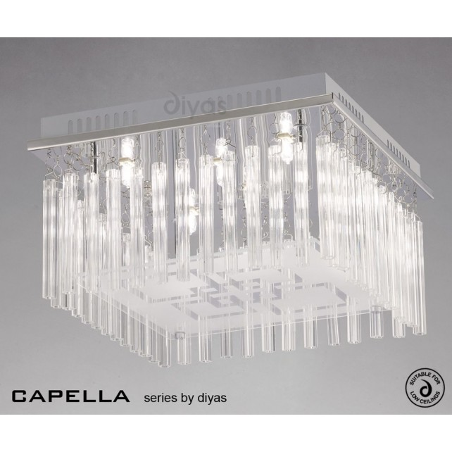 Diyas Capella Ceiling 6 Light Polished Chrome