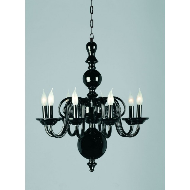 Impex Salas Chandelier Black - 8 Light
