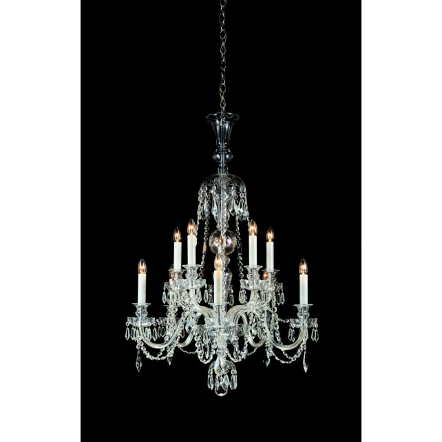Impex Most Chandelier - 10 Light, Polished Chrome