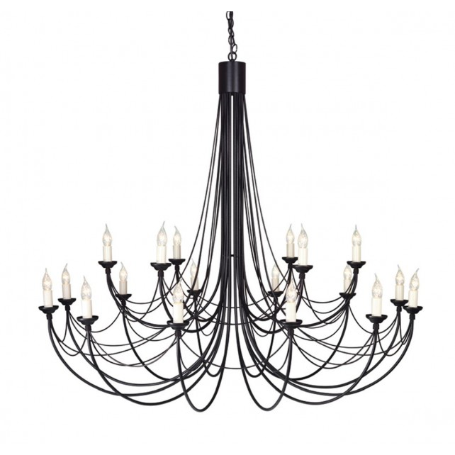 Elstead CB18 BLACK Carisbrooke 18 - Light Chandelier Black