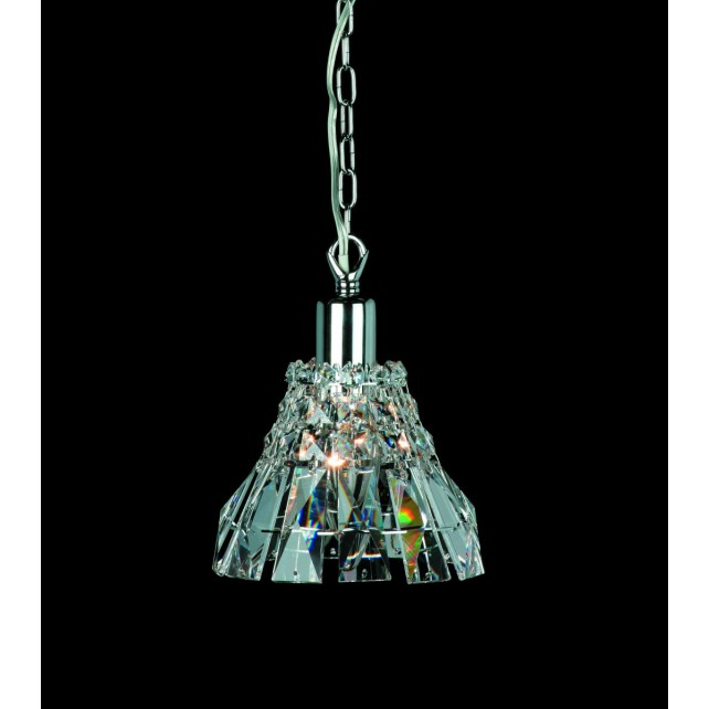 Impex Strasbourg Chandelier - 1 Light, Polished Chrome