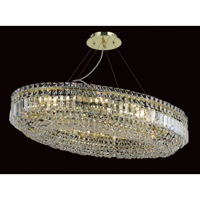 Impex Olovo Chandelier Gold - 12 Light