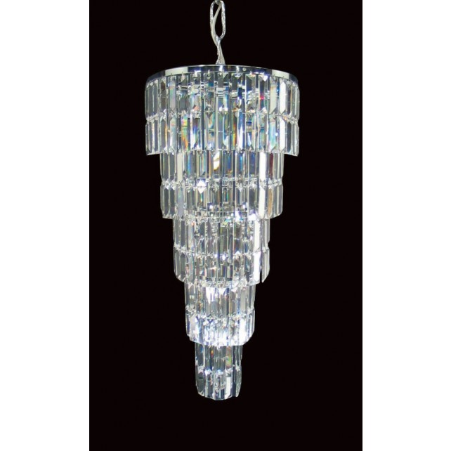 Impex Padua Chandelier Chrome - 7 Light