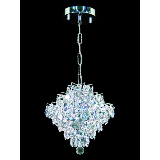 Impex Diamond Chandelier - 1 Light, Polished Chrome