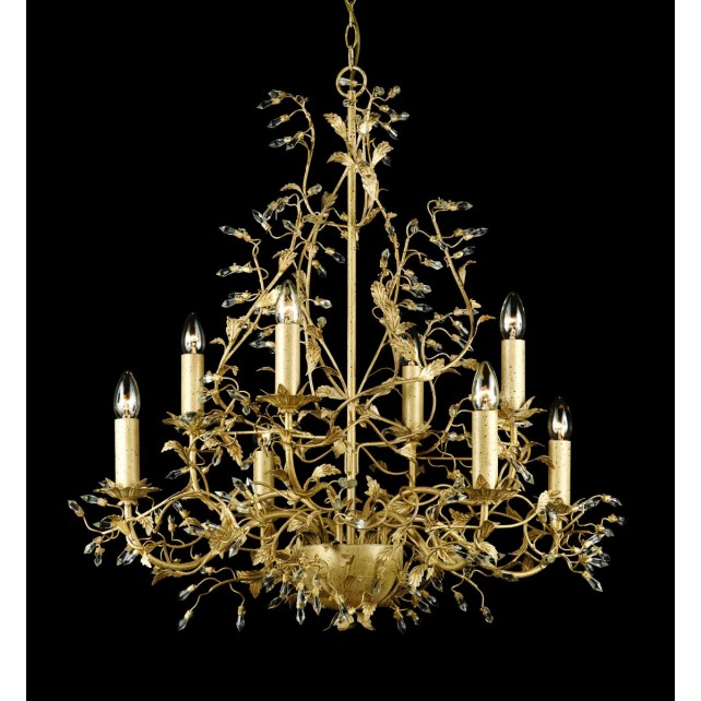 Impex Italiano Chandelier Gold - 8 Light