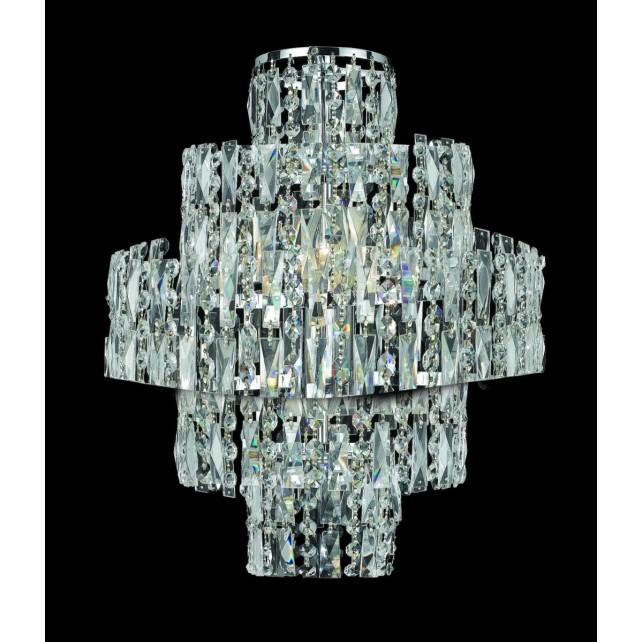 Impex New York Wall Light Chrome - 3 Light