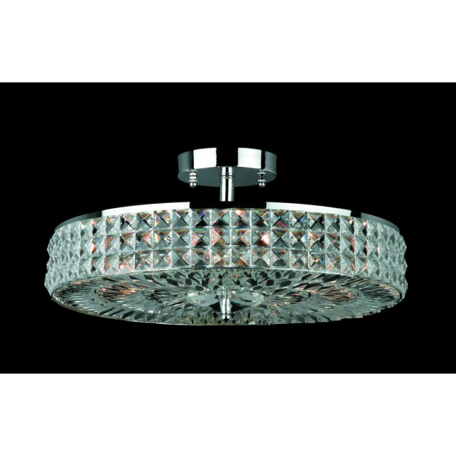 Impex Murcia Ceiling Light - 6 Light, Polished Chrome