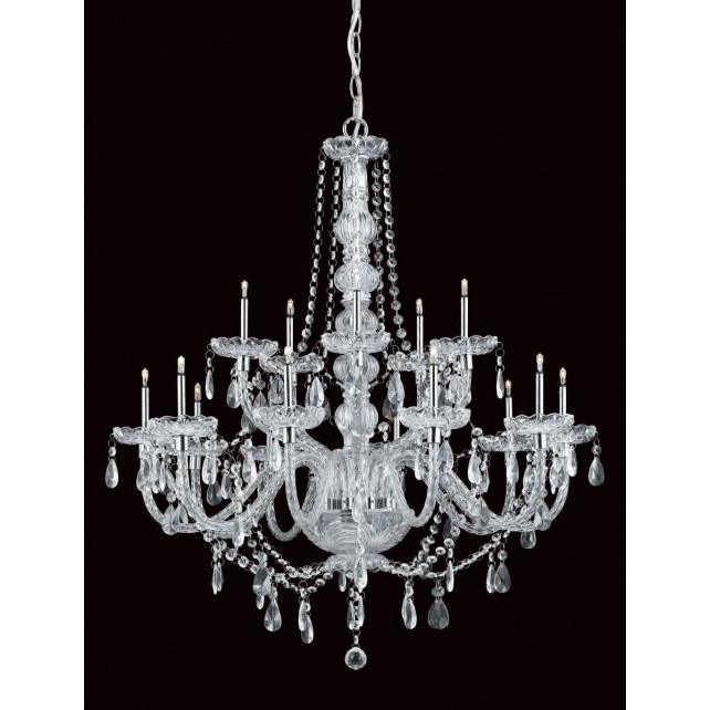 Impex Imperia Chandelier Chrome - 15 Light