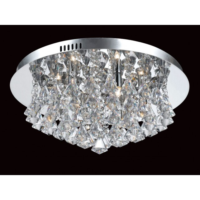 Impex Parma Ceiling Light - 6 Light, Polished Chrome