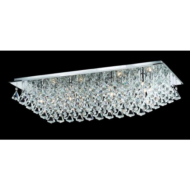 Impex Parma Ceiling Light Chrome - 8 Light