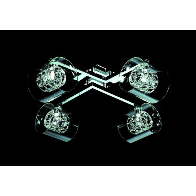 Impex Sonja Ceiling Light Chrome - 4 Light