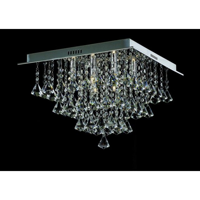 Impex Parma Ceiling Light - 6 Light, Chrome