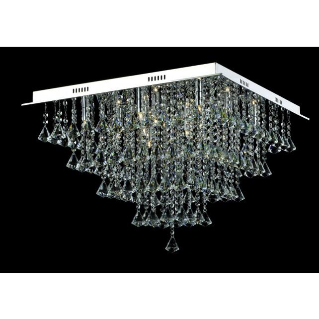 Impex Parma Ceiling Light - 12 Light, Chrome
