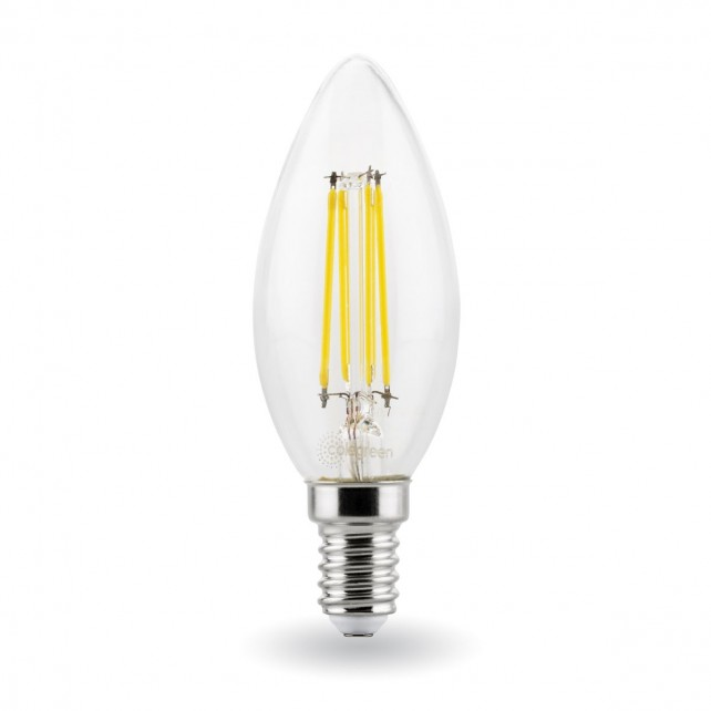 4W LED Filament Candle Light Bulb SES/E14 - (40W Alternative)