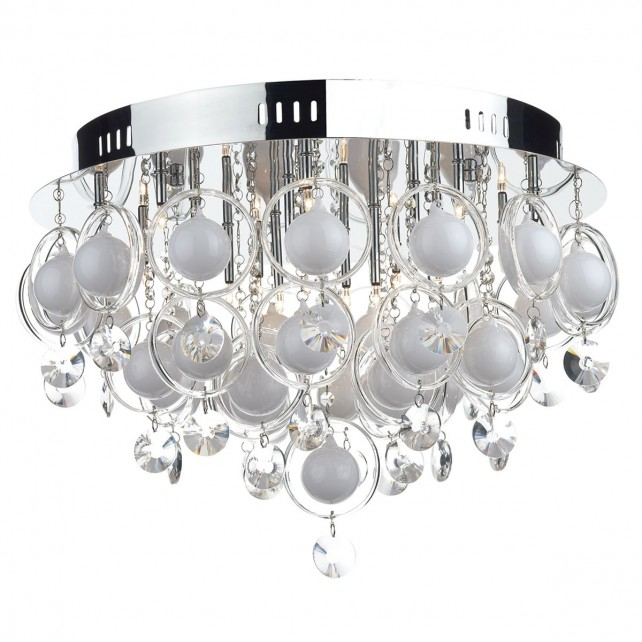 Cloud 18 Light Chrome & Crystal Ceiling Light