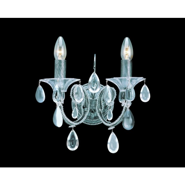 Impex Versailles Wall Light Silver - 2 Light