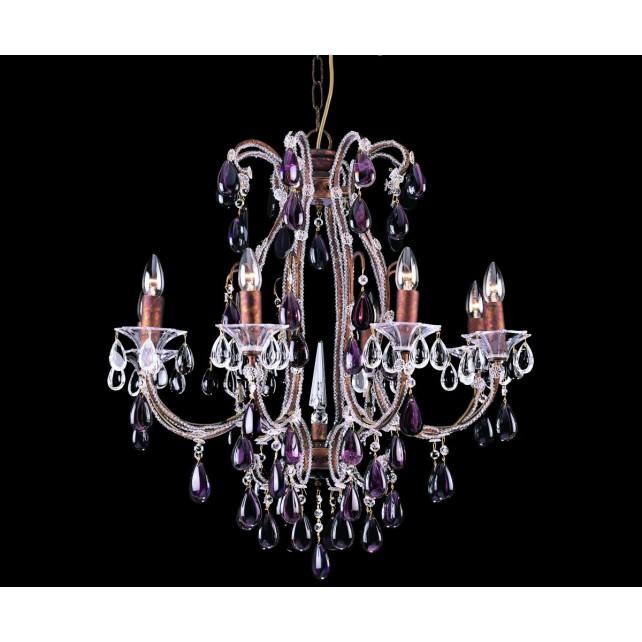 Impex Versailles Chandelier Rustic Bronze - 8 Light