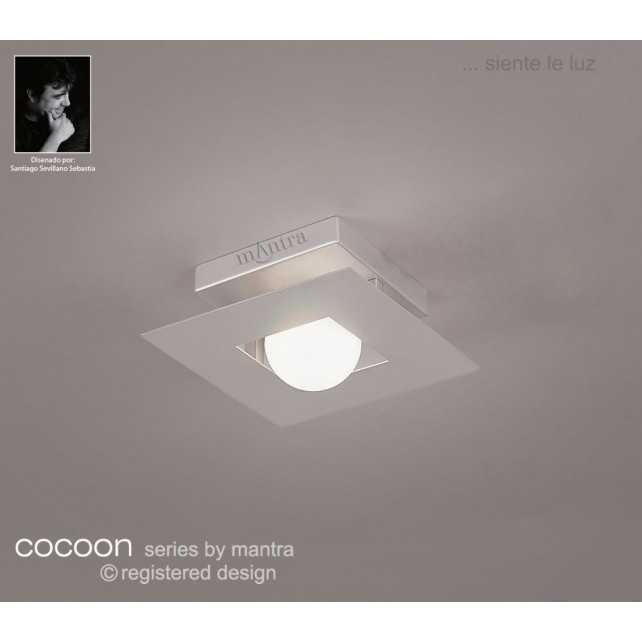 Cocoon Ceiling 1 Light Silver