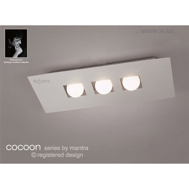 Cocoon Ceiling 3 Lights Silver