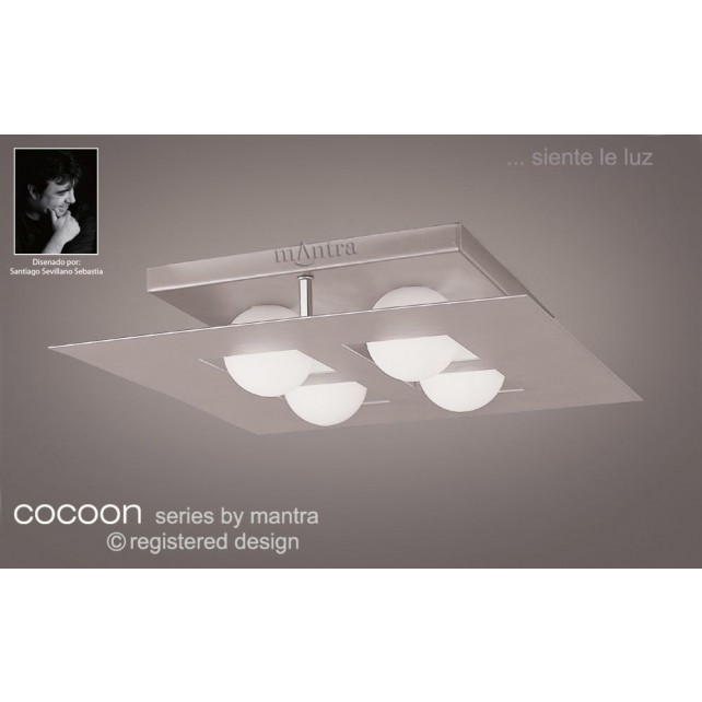 Cocoon Ceiling 4 Lights (Square) Silver