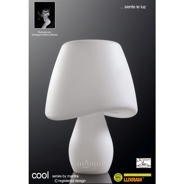 Cool Table Lamp 2 Light Indoor In Line Switch White