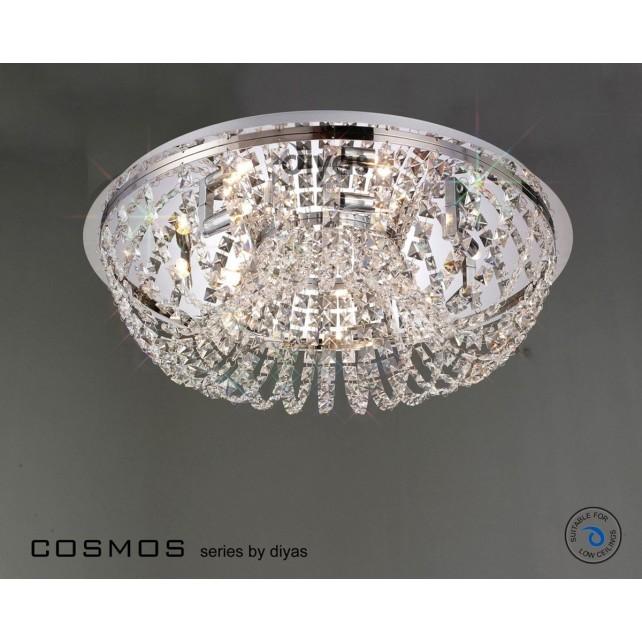 Diyas Cosmos Ceiling 7 Light Polished Chrome/Crystal