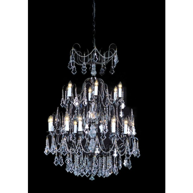 Impex Montmartre Chandelier Antique Bronze - 18 Light