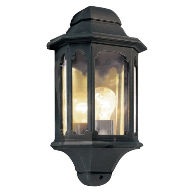 Elstead CP7 BLACK Chapel Half Lantern Black