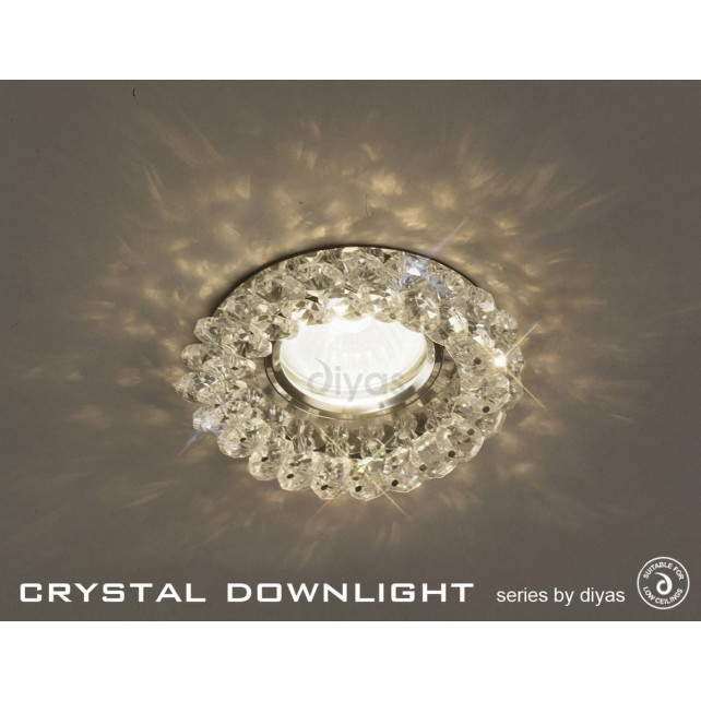 Diyas Round Crystal Cluster Downlight Clear (Rim Only)