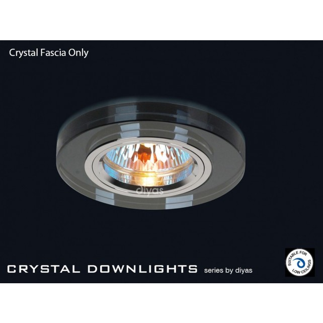 Diyas Black Crystal Round Downlight (Rim Only)