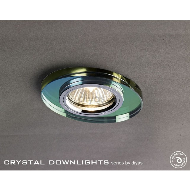 Diyas Oval Crystal Downlight Spectrum (Rim Only)