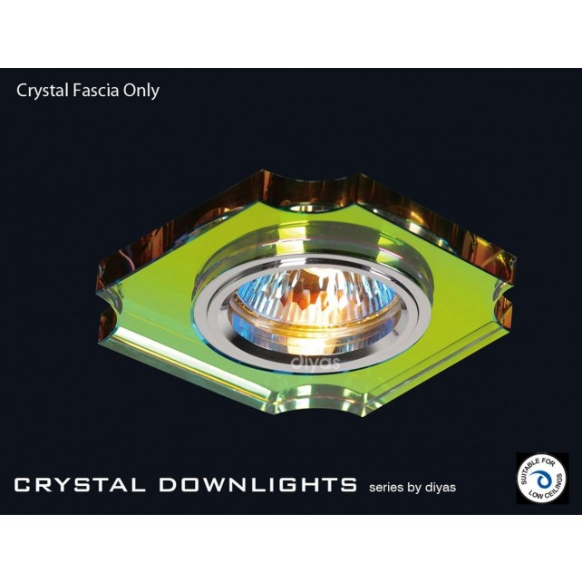 Diyas Spectrum Crystal Concave Corner Downlight (Rim Only)