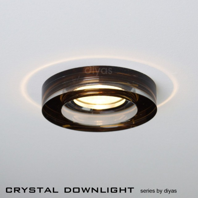 Diyas Round Crystal Downlight Bronze (Rim only)