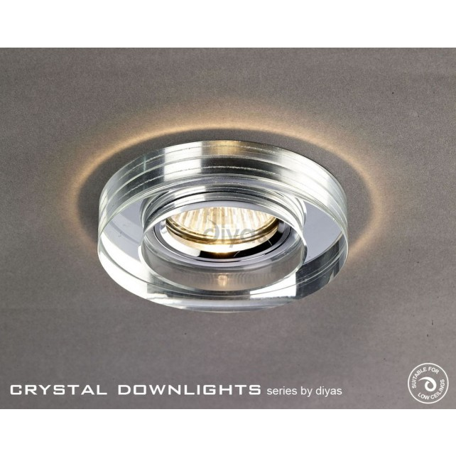 Diyas Round Crystal Downlight Chrome (Rim only)