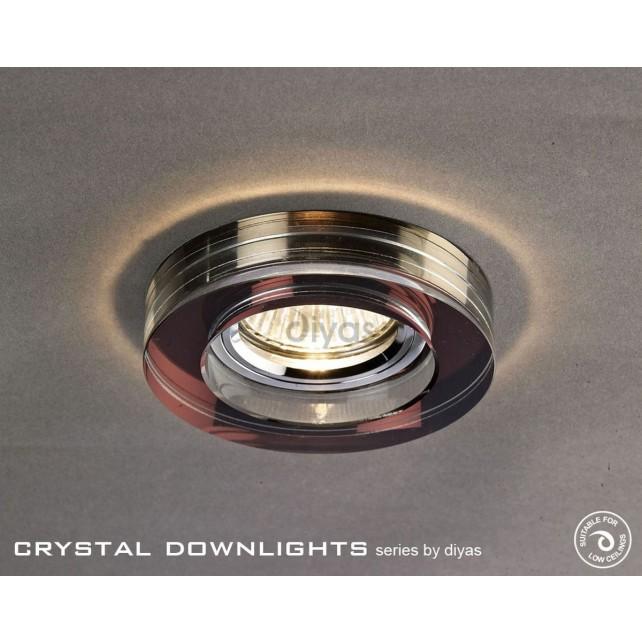 Diyas Round Crystal Downlight Purple (Rim only)
