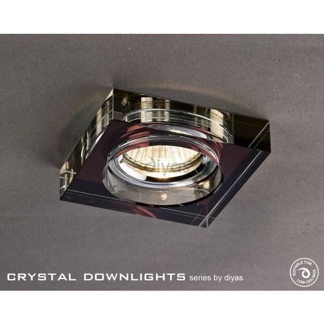 Diyas Square Crystal Downlight Purple (Rim Only)