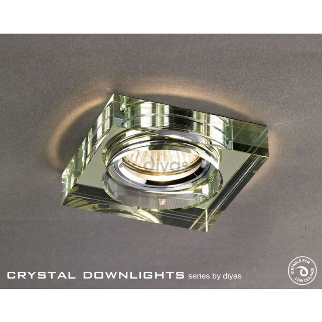 Diyas Square Crystal Downlight White Wine (Rim Only)