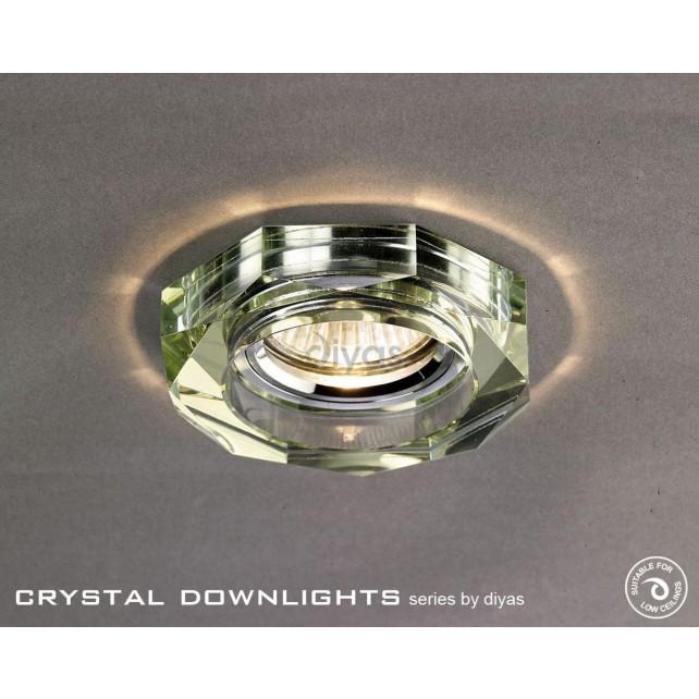 Diyas Hexagon Crystal Downlight White Wine (Rim Only)