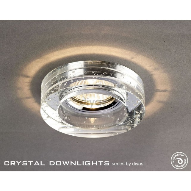 Diyas Round Bubble Crystal Downlight Chrome (Rim Only)