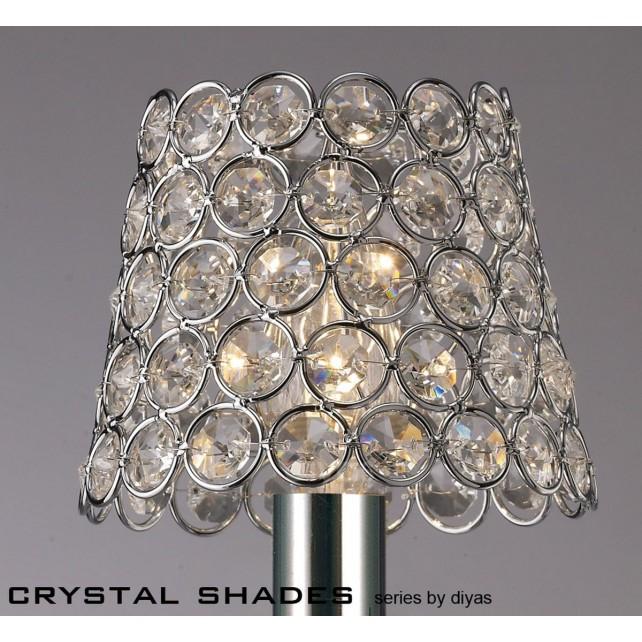 Diyas Clip On Shade Chrome/Crystal