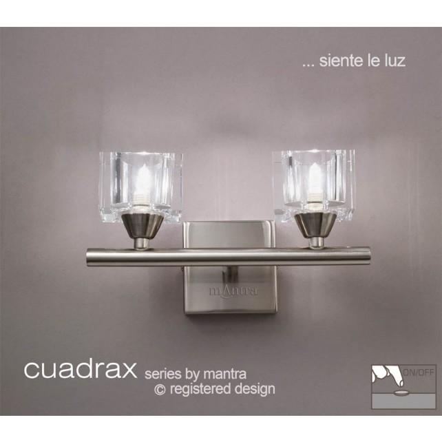 Cuadrax Switched Wall Lamp 2 Light Polished Chrome