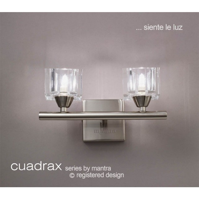 Cuadrax Wall Lamp 2 Light Polished Chrome