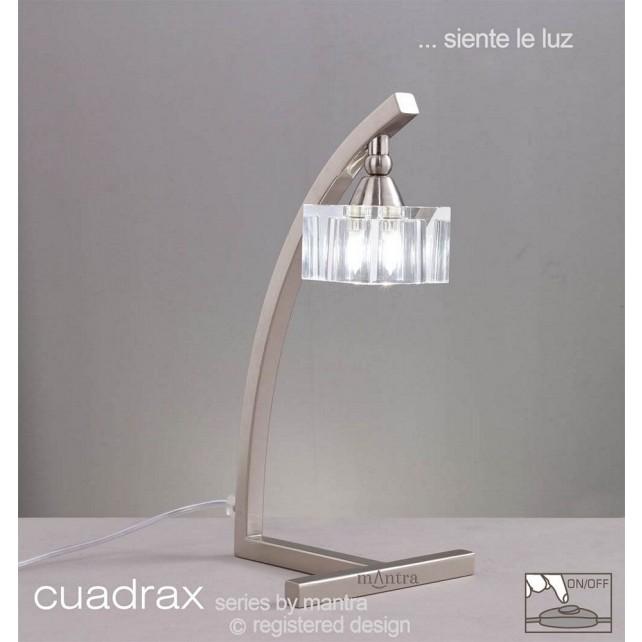 Cuadrax Table Lamp 1 Light Polished Chrome