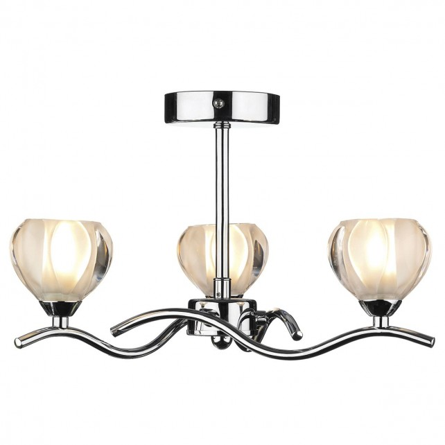 Cynthia Semi Flush Ceiling Light 3 Light