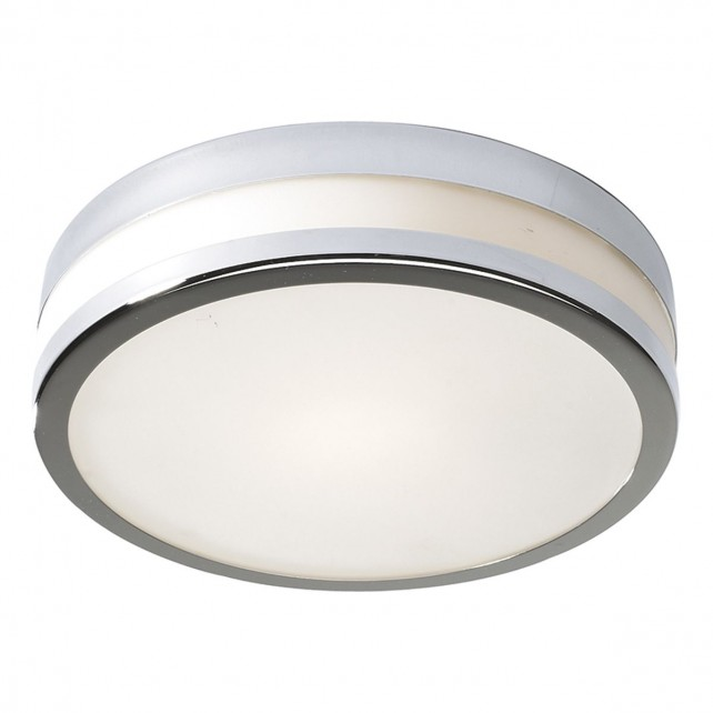Cyro Flush Ceiling Light - IP44 Polished Chrome